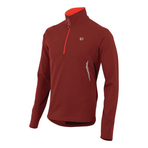 Mens Pearl Izumi Therma Phase Top Long Sleeve No Zip Technical Tops - Sangria M ...