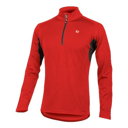 Mens Pearl Izumi Therma Phase Top Long Sleeve No Zip Technical Tops - True Red/Black ...