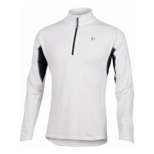 Mens Pearl Izumi Therma Phase Top Long Sleeve No Zip Technical Tops - White/Black XL ...