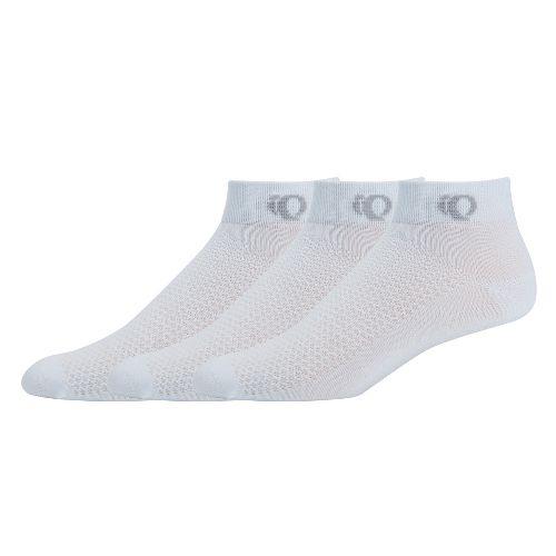 Womens Pearl Izumi SELECT Low Socks 3 pack - White L