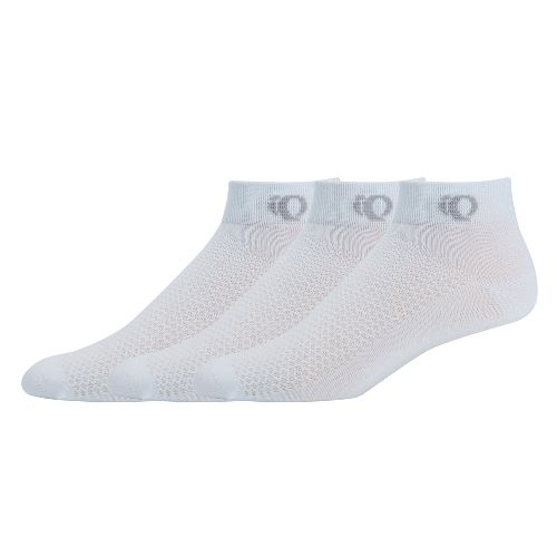 Womens Pearl Izumi SELECT Low Socks 3 pack - White S