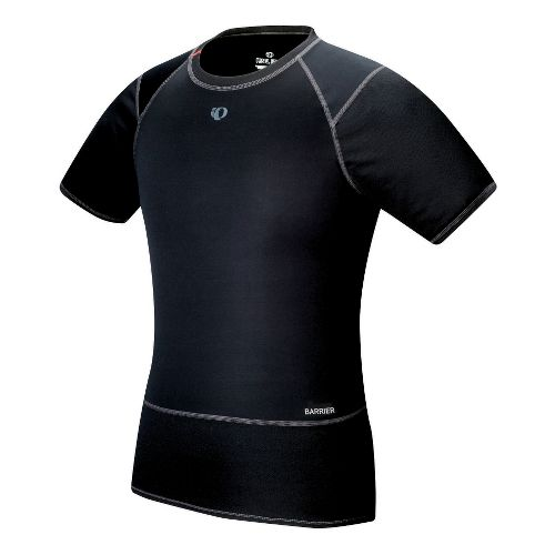 Mens Pearl Izumi Barrier Short Sleeve Baselayer Technical Tops - Black L