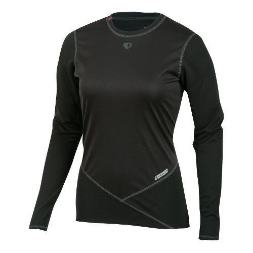 Womens Pearl Izumi Barrier Long Sleeve Baselayer No Zip Technical Tops - Black S