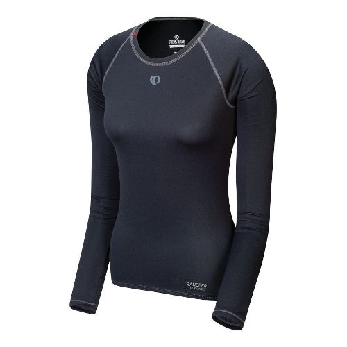 Womens Pearl Izumi Transfer Long Sleeve Baselayer No Zip Technical Tops - Black S