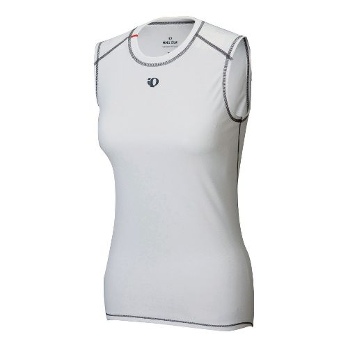 Womens Pearl Izumi Transfer Sleeveless Baselayer Sleeveless Technical Tops - White L
