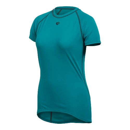 Womens Pearl Izumi Transfer Short Sleeve Baselayer Short Sleeve Technical Tops - Peacock S