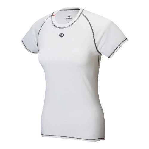 Womens Pearl Izumi Transfer Short Sleeve Baselayer Short Sleeve Technical Tops - White XL
