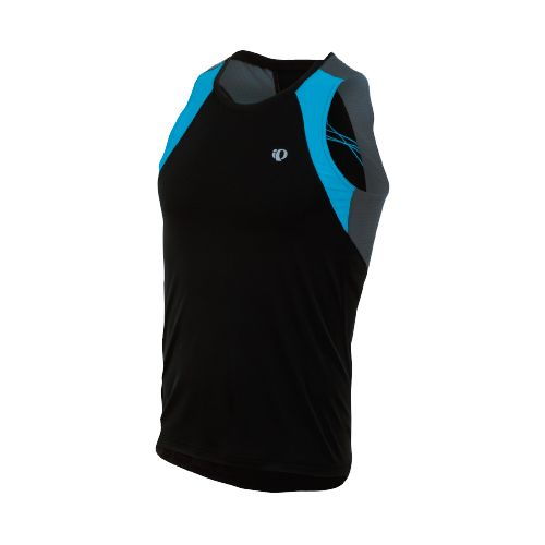 Mens Pearl Izumi Infinity In-R-Cool Singlet Technical Tops - Black/Electric Blue L