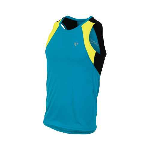 Mens Pearl Izumi Infinity In-R-Cool Singlet Technical Tops - Electric Blue/Screaming Yellow L