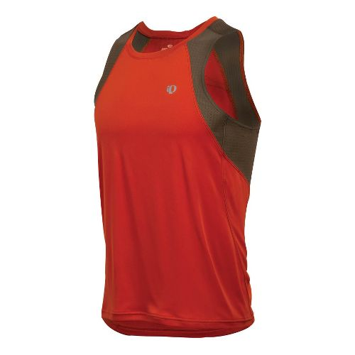 Mens Pearl Izumi Infinity In-R-Cool Singlet Technical Tops - Rust/Silt M