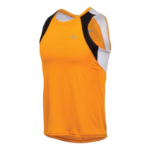 Mens Pearl Izumi Infinity In-R-Cool Singlet Technical Tops - Safety Orange/White XL