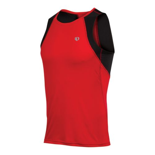 Mens Pearl Izumi Infinity In-R-Cool Singlet Technical Tops - True Red/Black XXL