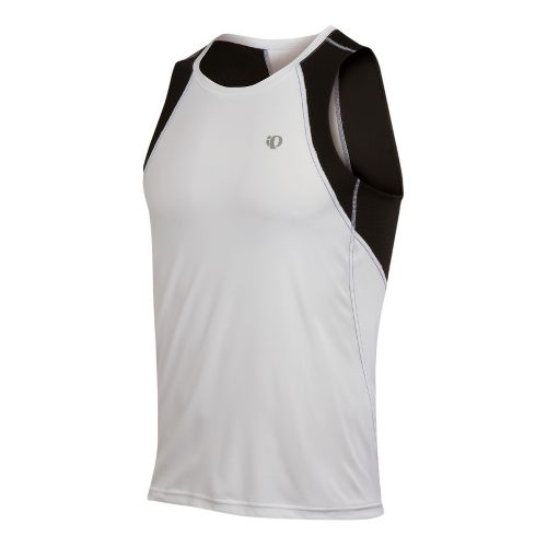 Mens Pearl Izumi Infinity In-R-Cool Singlet Technical Tops - White/Black XXL