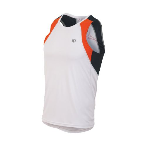 Mens Pearl Izumi Infinity In-R-Cool Singlet Technical Tops - White/Cherry Tomato L