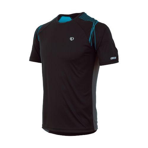 Mens Pearl Izumi Infinity In-R-Cool SS Short Sleeve Technical Tops - Black/Electric Blue L