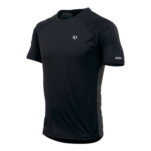 Mens Pearl Izumi Infinity In-R-Cool SS Short Sleeve Technical Tops - Black/Shadow Grey L