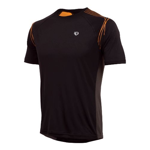 Mens Pearl Izumi Infinity In-R-Cool SS Short Sleeve Technical Tops - Black/Safety Orange XXL