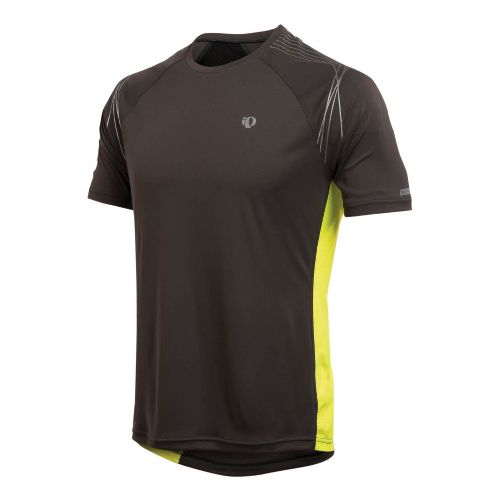 Mens Pearl Izumi Infinity In-R-Cool SS Short Sleeve Technical Tops - Shadow Grey/Screaming ...