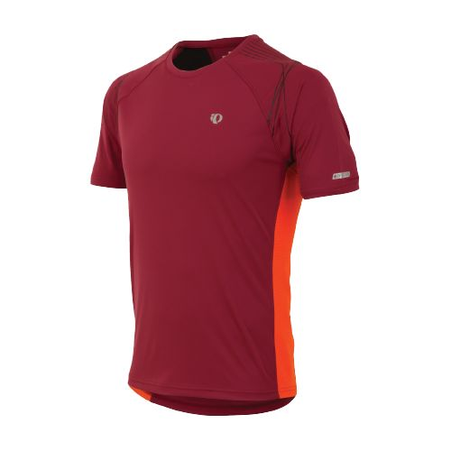 Mens Pearl Izumi Infinity In-R-Cool SS Short Sleeve Technical Tops - Sangria/Cherry Tomato M