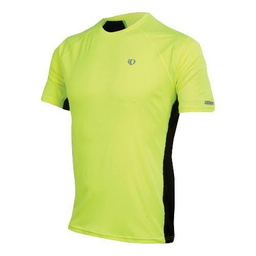 Mens Pearl Izumi Infinity In-R-Cool SS Short Sleeve Technical Tops - Screaming Yellow/Black S
