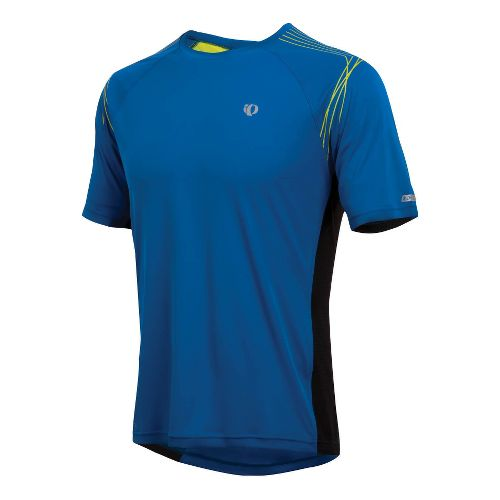 Mens Pearl Izumi Infinity In-R-Cool SS Short Sleeve Technical Tops - True Blue/Lime L