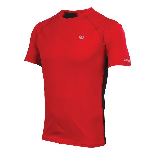 Mens Pearl Izumi Infinity In-R-Cool SS Short Sleeve Technical Tops - True Red/Black XXL