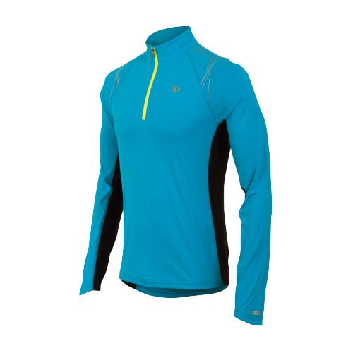 Mens Pearl Izumi Infinity In-R-Cool LS Long Sleeve 1/2 Zip Technical Tops - Electric ...