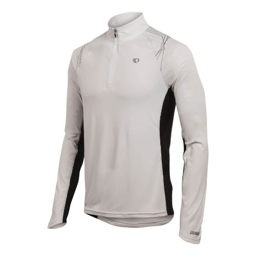 Mens Pearl Izumi Infinity In-R-Cool LS Long Sleeve 1/2 Zip Technical Tops - White S ...