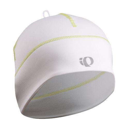 Pearl Izumi Thermal Run Hat Headwear - White/Lime