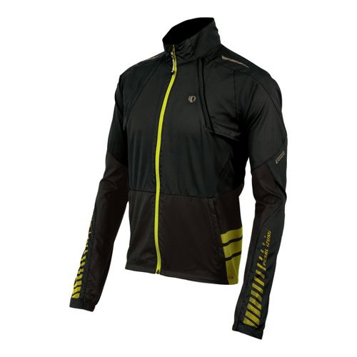 Mens Pearl Izumi Elite Barrier Convertible Outerwear Jackets - Black/Black XXL