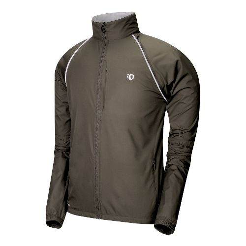 Mens Pearl Izumi Elite Barrier Convertible Outerwear Jackets - Coffee S