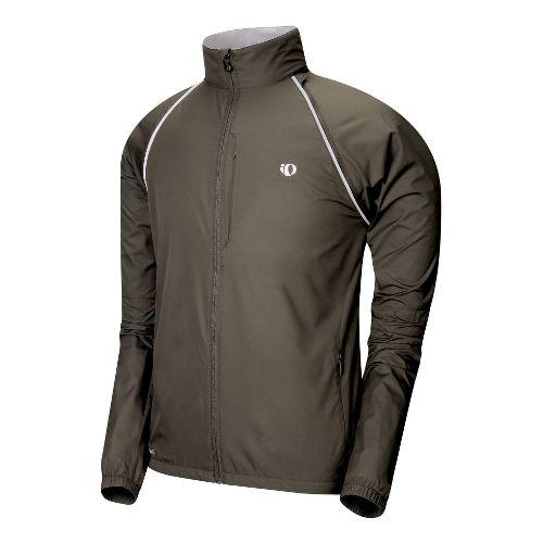 Mens Pearl Izumi Elite Barrier Convertible Outerwear Jackets - Coffee XXL
