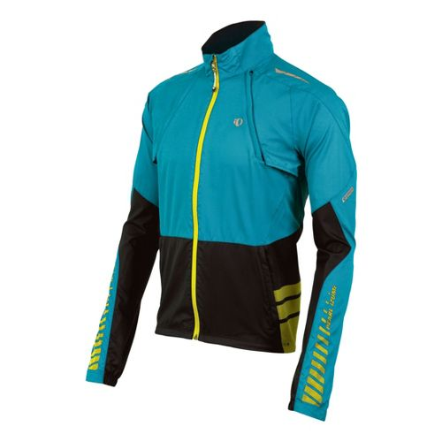 Mens Pearl Izumi Elite Barrier Convertible Outerwear Jackets - Electric Blue/Black M