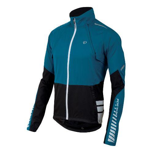 Mens Pearl Izumi Elite Barrier Convertible Outerwear Jackets - Mykonos Blue/Black L