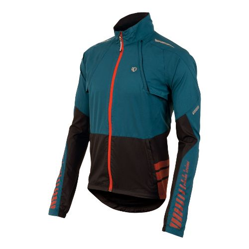 Mens Pearl Izumi Elite Barrier Convertible Outerwear Jackets - Petrol Blue/Black M