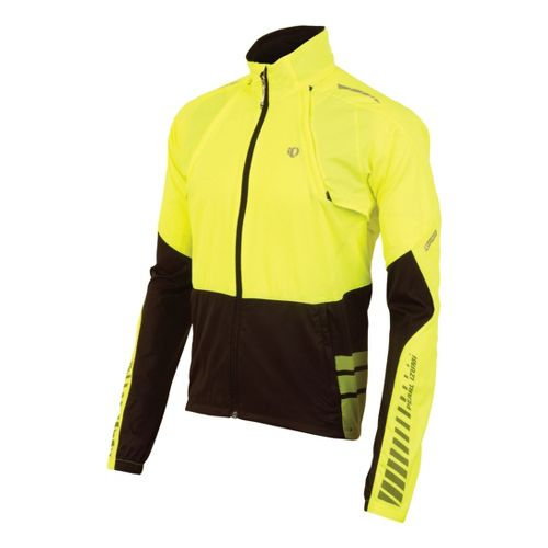 Mens Pearl Izumi Elite Barrier Convertible Outerwear Jackets - Screaming Yellow/Black L