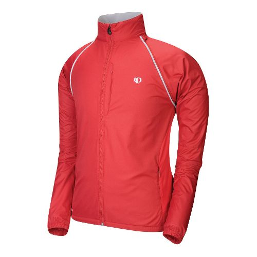Mens Pearl Izumi Elite Barrier Convertible Outerwear Jackets - True Red M