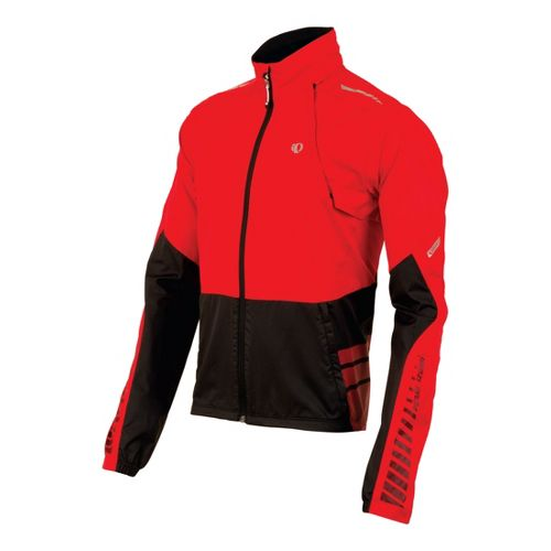 Mens Pearl Izumi Elite Barrier Convertible Outerwear Jackets - True Red/Black S
