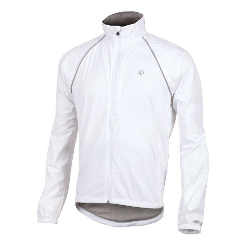 Mens Pearl Izumi Elite Barrier Convertible Outerwear Jackets - White L