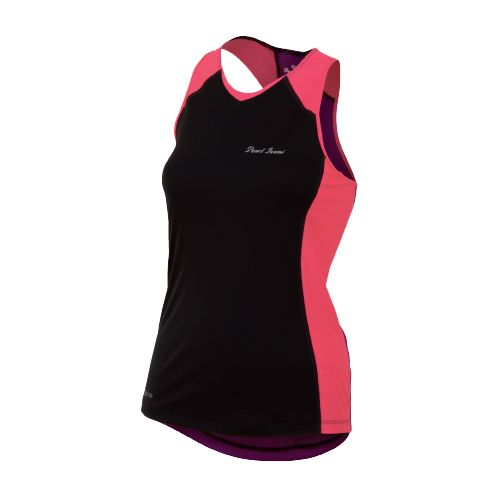 Womens Pearl Izumi Infinity In-R-Cool Singlet Technical Tops - Black/Paradise Pink L