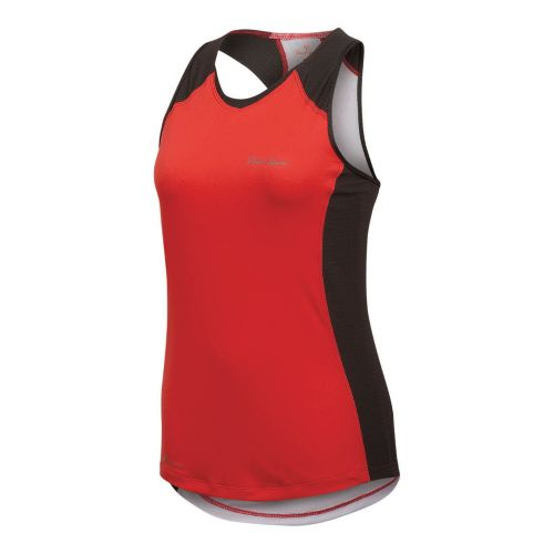 Womens Pearl Izumi Infinity In-R-Cool Singlet Technical Tops - Coral/Shadow Grey L