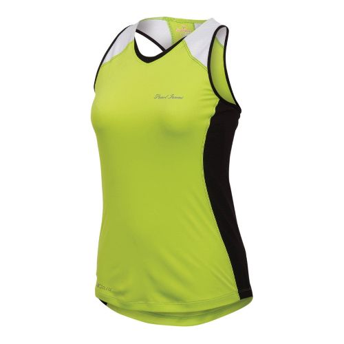 Womens Pearl Izumi Infinity In-R-Cool Singlet Technical Tops - Lime/Black XS