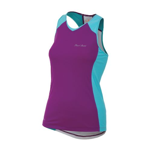 Womens Pearl Izumi Infinity In-R-Cool Singlet Technical Tops - Orchid/Scuba Blue L