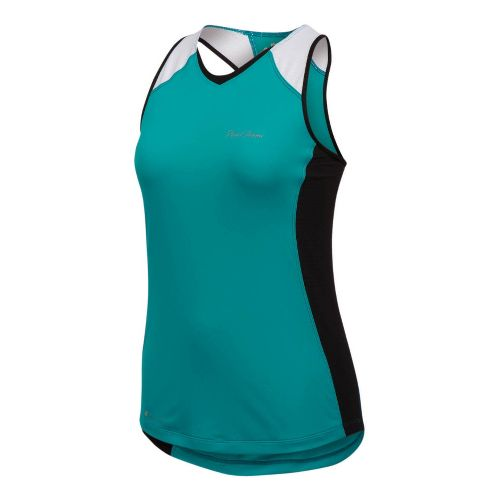 Womens Pearl Izumi Infinity In-R-Cool Singlet Technical Tops - Peacock/Black XL