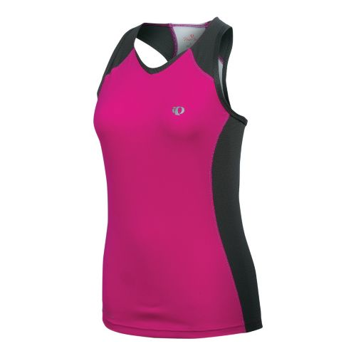 Womens Pearl Izumi Infinity In-R-Cool Singlet Technical Tops - Pink Punch/Shadow Grey XL
