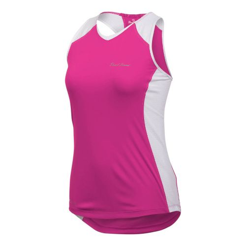 Womens Pearl Izumi Infinity In-R-Cool Singlet Technical Tops - Pink Punch/White L