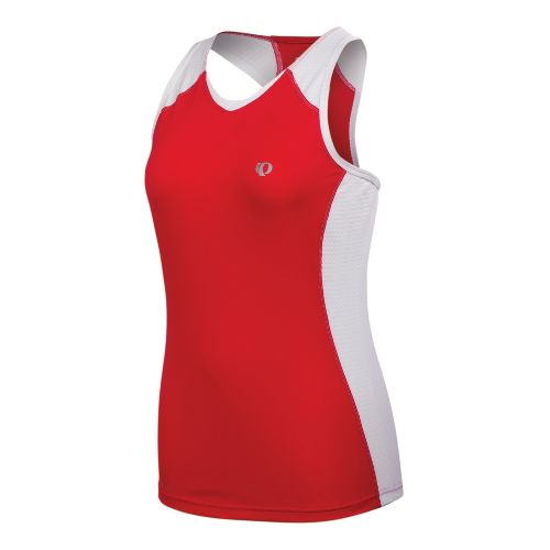 Womens Pearl Izumi Infinity In-R-Cool Singlet Technical Tops - True Red/White XL