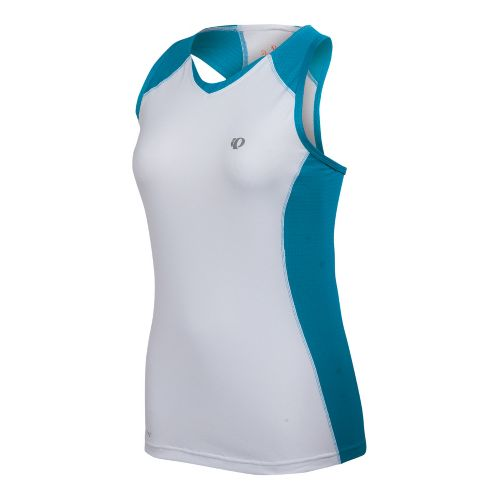 Womens Pearl Izumi Infinity In-R-Cool Singlet Technical Tops - White/Blue Jewel S