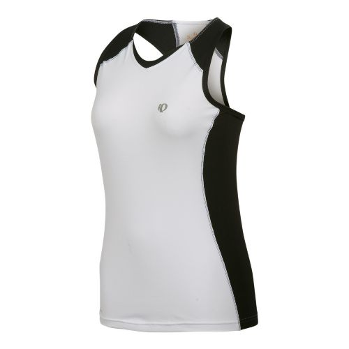 Womens Pearl Izumi Infinity In-R-Cool Singlet Technical Tops - White/Black S