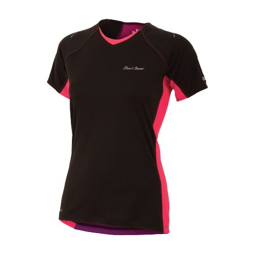 Womens Pearl Izumi Infinity In-R-Cool Short Sleeve Technical Tops - Black/Paradise Pink M